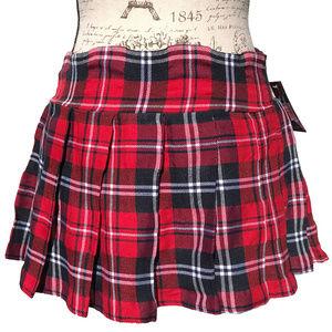 NWT J.Templeton Plaid Mini Skirt Pleated School S